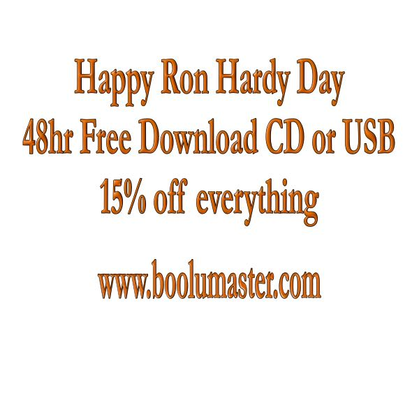 Ron Hardy 15% off